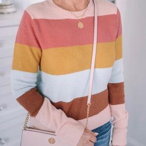 Halogen Pastel Striped Sweater